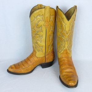Vintage Alligator Skin Cowboy Boots, Men's Sz 9